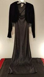 Kiki + Jump Black Top and Gown 2pc Set (XL and Size 13) USA