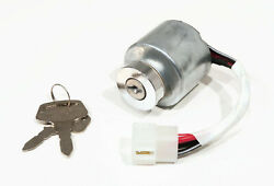 Ignition Switch With Keys For Kubota 66101-55203, 66101-55210 Tractor Engines