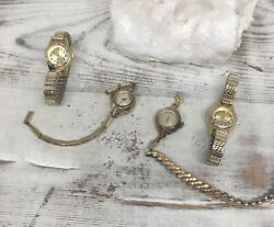 Vintage Collection Women's Watches Lady Elgin Waltham Gold Stretch Bands Jewelry