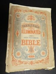 1846 Harperand039s Illustrated Bible Puband039d In 54 Sections. Never Bound-as Issued-rare