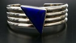 Na Na Ping Vintage Native American Sterling Silver Cuff Bracelet Pascua Yaqui