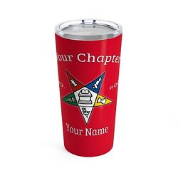 Order Of The Eastern Star Tumbler Masonic Cup Red Oes Gift