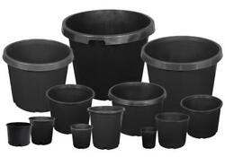 Lot Of 5 - 1 2 3 5 7 10 15 20 25 Gallon Durable Injection Molded Nursery Pots