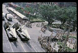 China Army Nike Hercules Missile 1964 35mm Photo Slide Double Ten Day Wuchang