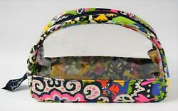 Vera Bradley Clear Cosmetic Zippered Pouch In Rio Pattern