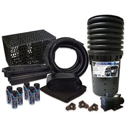 Pond Free 10000 Waterfall Kit 10000 Gph Pump 10and039 X 45and039 Pvc Liner Tgpvctpmthb6