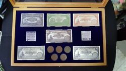 Rare Mandate Palestine 6 Silver Banknotes +5 Coins 2 Mils 1927 Limited +box