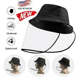 Fisherman Cap + Protective Clear Saliva-proof Dust-proof Sun Visor Hat UP