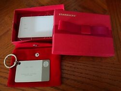 Starbucks Sterling Silver 2014 Limited Edition Keychain Gift Card 0
