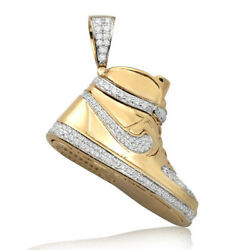 Sold Out 10k Solid Gold, 1.50ct Diamond Air Force One Nike Shoe Sneaker Pendant