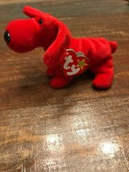 Rare Retired 1996 Ty Beanie Baby Rover W/ Collectible Errors