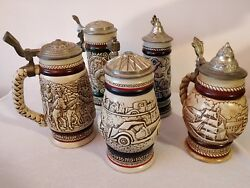 Lot 5 Collectibles Vintage Beer Ceramic Steins Mugs Limited Editions Ceramarte