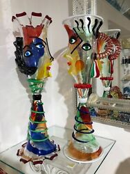 King And Queen Murano Glass Sculptures. Make Offer Each Sold Separately