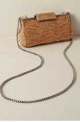 BHLDN Adrianna Papell Nanette Beaded Small Bronze Clutch Purse MSRP $114 $89.99
