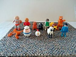Vintage Mixed Lot Of 12 Made In Hong Kong,geobra,etc.plastic Toys Great Lot