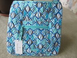 Vera Bradley Large Hipster Crossbody Bag Go Fish Blue Print New With Tag