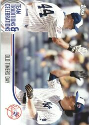 2018 Topps Opening Day Team Traditions And Celebrations Ttcotd Old Timers Day