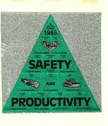 Nice 1985 Uncut Sheet Safety And Productivity Coal Mining Stickers 935