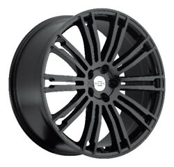 Redbourne Manor Rims for Land Rover Gloss Black 20x9.5 5x120 Qty4