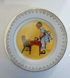 1981 Royal Manor Porcelain Plate Party Time By Norman Rockwell
