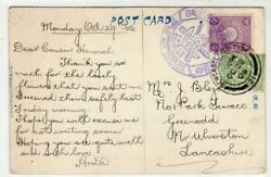 Japan 1906 Postcard With Naval Commemoration Day Postmark + Gb Stamp C49427