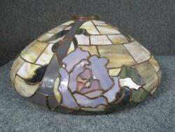ANTIQUE DUFFNER & KIMBERLY LEADED LAMP SHADE 20