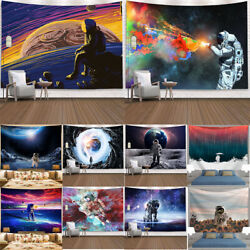 Space Spaceman Galaxy Tapestry Art Wall Hanging Living Room Bedroom Dorm Decor