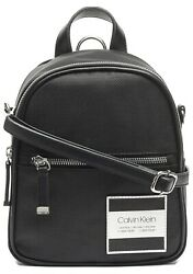 NWT CALVIN KLEIN Women#x27;s Kelly Nylon Small Backpack Black $55.99