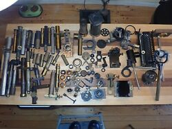 Large Estate Collection Of Antique 19thc Brass Microscope Parts
