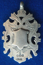 Large Silver Medal / Fob / Pendant - Not Engraved 1917 William Walter Cashmore