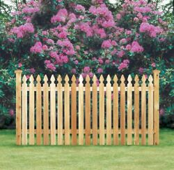 Cedar Spaced Picket Wood Fence Taylor Style Gothic Top 54 High With Gates