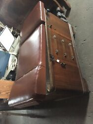Antique Vintage Really Cool Old Doctors Office Table Leather