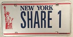New York Nyc Vanity Share 1 License Plate Sports Classic Car Limo Taxi Horse