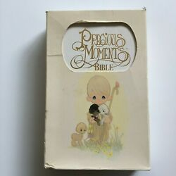 1985 Precious Moments Bible White Cover New King James Version Nelson 270 W Box
