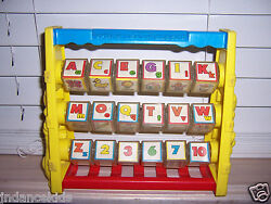 Shelcore Spin 'n Learn Blocks Abc 123 Toy Vintage 1987 Spinning Alphabet