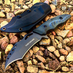 Hunt-down 10 Full Tang Hunting Knife Stainless Steel Blade Sheath With Belt Cli