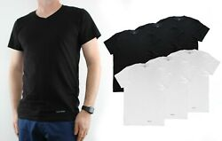 Calvin Klein Menand039s T-shirts 100 Cotton V-neck Classic Fit Tee Shirt 3 Pack