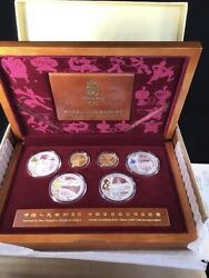 Usa Seller Beijing Olympic Gold And Silver 2008 Proof Set Series 12