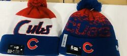Chicago Cubs Bundled New Era Winter Caps Knit New Tags Authentic Mlb Licensed
