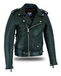 Highway Leather Old School Police Style Motorcycle Leather Jacket $99.00