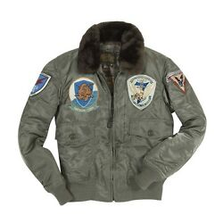Cockpit Usa G-1 Us Fighter Weapons Jacket With Patches Sage Green Usa Made