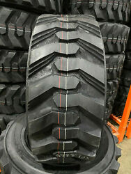 2 New 10-16.5 Power King Rim Guard Hd+ Skid Steer Tires For Bobcat Cat And More