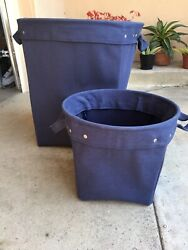 Pottery Barn Kids Large And Small Navy Canvas Toys Laundry Tote Bin