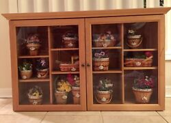Longaberger Jw Mini Wall Cabinet Display And All 14 May Minature Basket Combos
