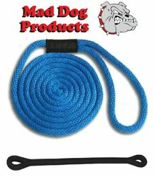 Mad Dog Royal Blue Solid Braid Nylon Dock Line W/ Snubber - 5/8 X 10and039 Dock Line