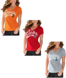 G-iii Sports Womenand039s Mlb Away Game V-neck T-shirt