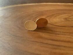 And Company Vintage 14k Yellow Gold Men's Cufflinks
