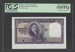 Portugal 50 Escudos Nd1929-33 P144p Proof About Uncirculated