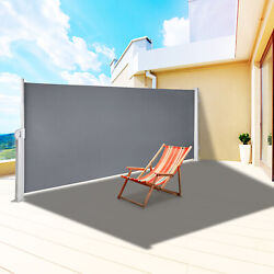 Retractable Side Awning Patio Screen Retractable Fence 71x118inch Privacy Screen
