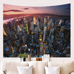 New York City Tapestry Skyscrapers Wall Hanging Bedroom Living Room Dorm Decor